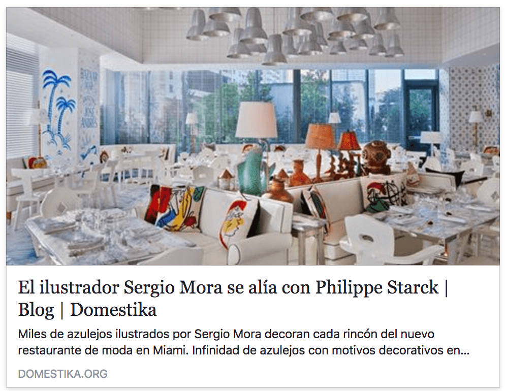 Sergio Mora allies with Philippe Starck