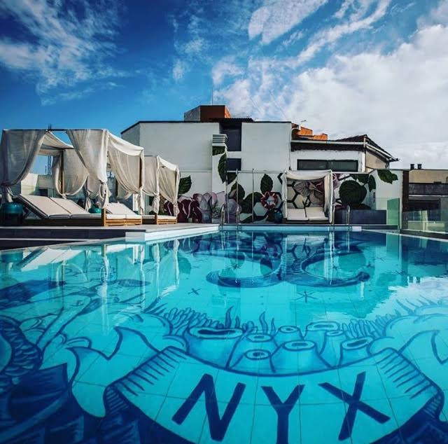 Swimming pool design for NYX Hotel