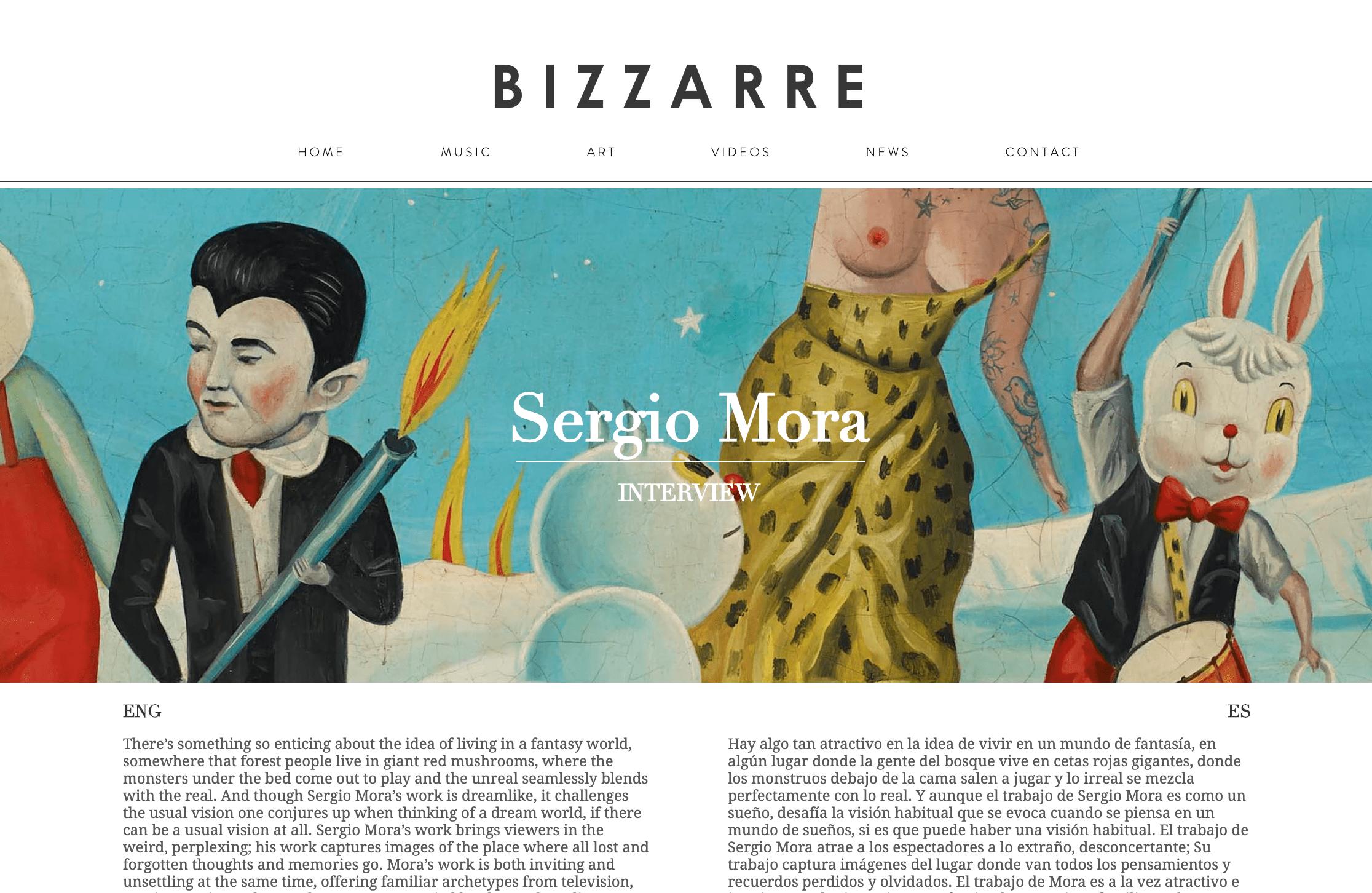Entrevista en Bizzarre Magazine